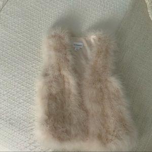 Club Monaco blush feather vest, size XS